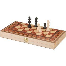 Игра для взрослых шахматы+шашки+нарды 34*17*4 см.