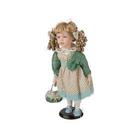 Фарфоровая кукла с мягконабивным туловищем высота=40 см