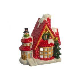 Фигурка домик перед рождеством 11*6.8*13см