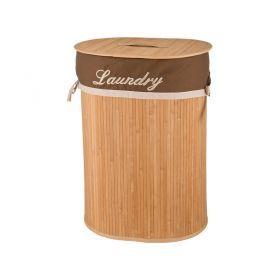Корзина для белья бамбук 42*32*60 см.-190-163