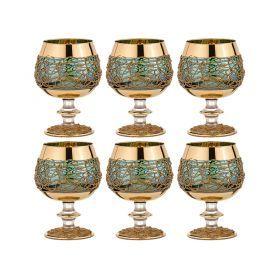 Набор бокалов для коньяка из 6 шт.400 мл.высота=14 см.-103-524