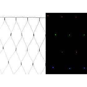 Электрогирлянда со светодиодами-сеть 130х140 см  220в  160 led  мульти, контроллер-857-023