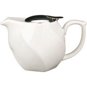 Заварочный чайник 750 мл. белый (кор=16шт.)-470-188