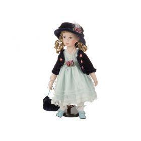 Фарфоровая кукла с мягконабивным туловищем высота=40 см-485-222