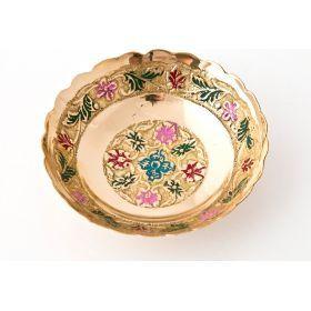 Розетка латунь диаметр=8 см. ассорти 5 видов без упаковки-877-095