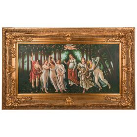 Картина масляная на холсте 122*60 см. багет 162*101 см.-107-1096
