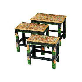 Набор из консольных столиков из 3 шт.19*35*32/24*40*34/30*46*36 см.