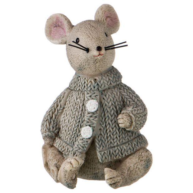 """Статуэтка """"мышка"""" выскратноа=6,5 см. без упаковки (Мин= 6шт./кор=108шт.)-162-565"""