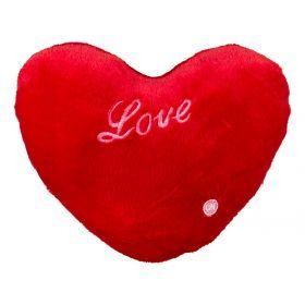Декоративная подушка сердце красное