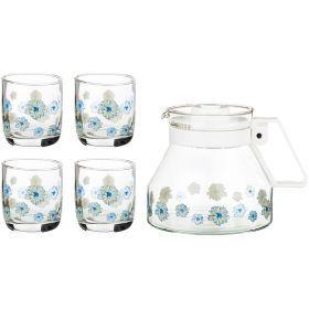 Набор 5 пр.:кувшин + 4 стакана 1300/200 мл.-181-204