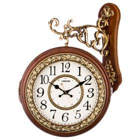 Часы настенные кварцевые с двойным циферблатом 43*13*55,5 см. диаметр=26 см. (кор=6шт.)-204-234