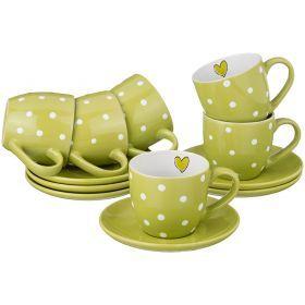 Чайный набор на 6 персон 12 пр. 220 мл.-584-075