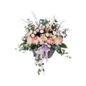 Композиция из искусственных цветов 25*15*30 см. без упаковки-309-595