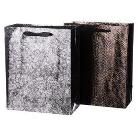 Комплект бумажных пакетов из 12 шт  32*26*12 см.2 вида