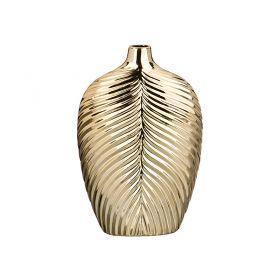 Ваза лист папортника золотая шампань  18*8,5*27,5 см.