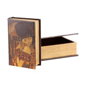 Комплект из 2-х шкатулок-книг густав климт 27*21*7 / 21*14*5 см