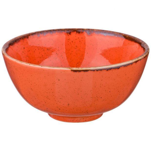 Миска seasons 13 см цвет оранжевый (кор=8шт.)-664-120