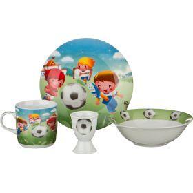 Наборы посуды на 1 персону 4пр.:миска,тарелка,кружка 200 мл.,подставка под яйцо-87-035