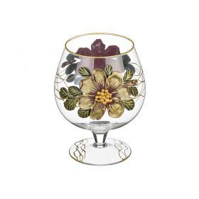 Ваза-бокал декоративная сиреневый цветок лепка 1000 мл.без упаковки