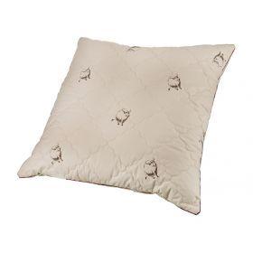 Подушка як  70*70 см, верх: тик-100% хлопок, наполнитель: 100% полиэстер, цвет бежевый с рисунком-556-158