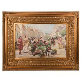 Картина масляная на холсте 90*60 см. багет 133*103 см.