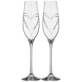 Набор бокалов для шампанского из 2 штук