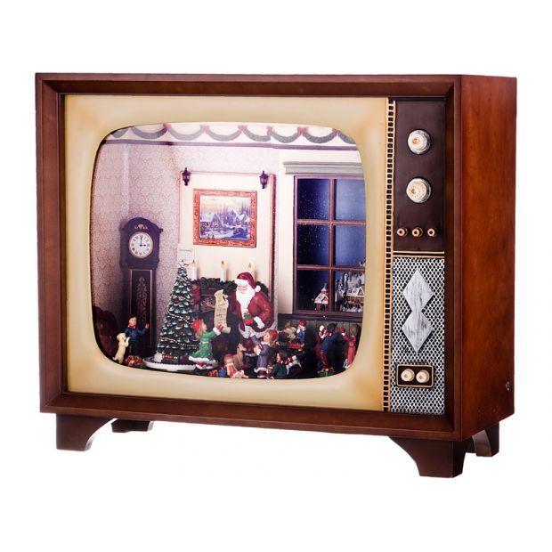 """Декор.изделие """"телевизор"""" с музыкой,подсв.и вращением 59*25 см.высота=51 см.-234-120"""
