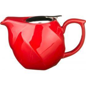 Заварочный чайник 750 мл.красный (кор=16шт.)-470-186