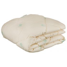 Одеяло эвкалипт 172*205 см, верх  50% хлопок/50% п/э, наполнитель: 100% полиэстер, сливочный с рисун