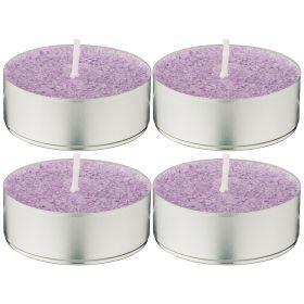 Набор ароматических стеариновых свечей из 4 шт. lavender диметр 6 см высота 2 см-348-668