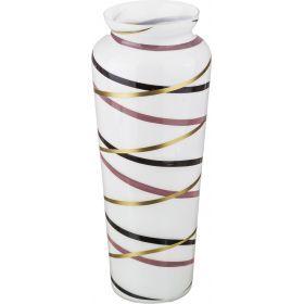 Ваза калипсо white афина диаметр=12 см. высота=38 см.