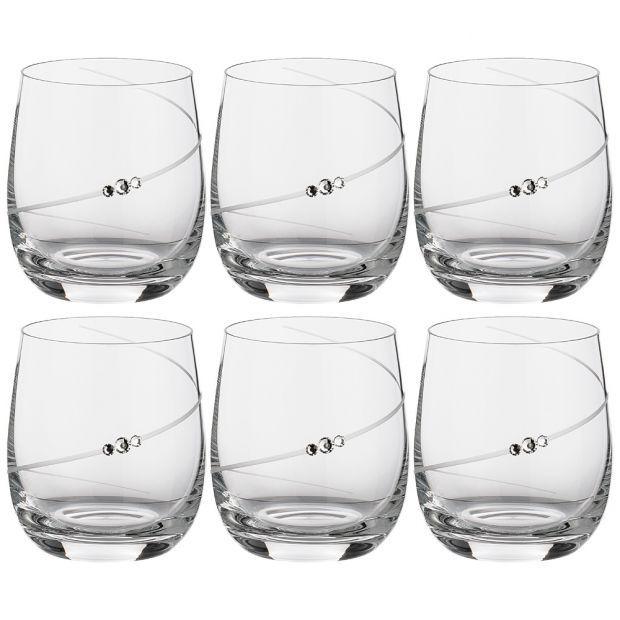 """Набор бокалов для виски/воды  из 6  штук """"силуэт"""" 380 мл-681-109"""