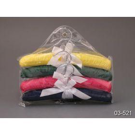 Набор плечиков из 4шт подарочные сатин в упаковке длина=27 см.-03-521
