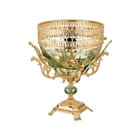 Декоративная чаша высота=35 см.диаметр=25 см.-284-569