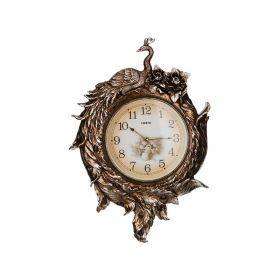 Часы настенные кварцевые золотой павлин 55*8*80 см. диаметр циферблата= 31 см.