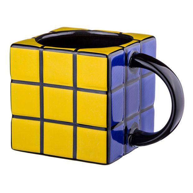 """Кружка """"кубик"""" черный 400 мл.12,5*8,5 см.-383-638"""