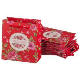 Комплект бумажных пакетов из 10 шт. 14*16*7 см.-521-166