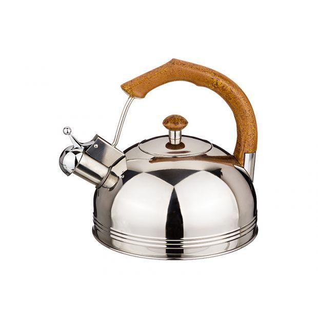 Чайник со свистком 2,5 л. нжс фиксированная ручка-907-039