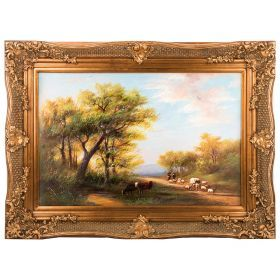Картина масляная на холсте 89*59 см. багет 114*84 см.-107-1085