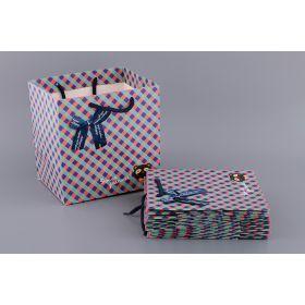 Комплект бумажных пакетов из 10 шт. 21*22*16 см-521-083