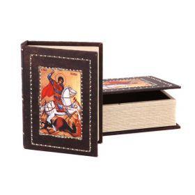 Комплект из 2-х шкатулок-книг 27*20*7 / 21*16*5 см-184-104