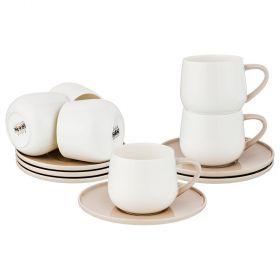 Чайный набор на 6 песон, 12 пр. 250 мл. диаметр=14,5 см. (кор=6набор.)-264-973