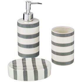 Набор для ванной комнаты, 3 пр. (дозатор=300мл, стакан=300мл, мыльница=13*9*3см)-791-092