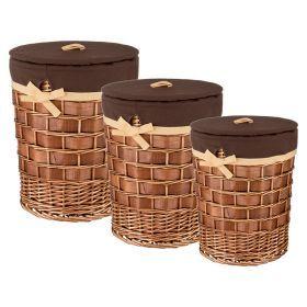 Набор корзин для белья из 3-х шт l: ф45*54/m:ф37*44/ s:ф 31*35 см.
