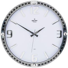 Часы настенные кварцевые диаметр 39,5 см диаметр циферблата 34,9 см (кор=10шт.)-207-320