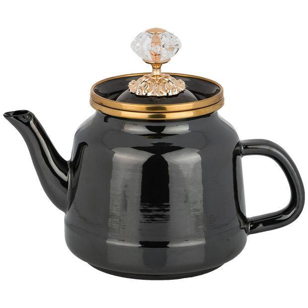 Чайник agness эмалированный, 1,0 л-950-232