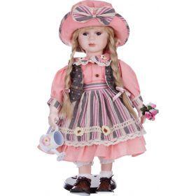 Кукла фарфоровая высота=42 см.