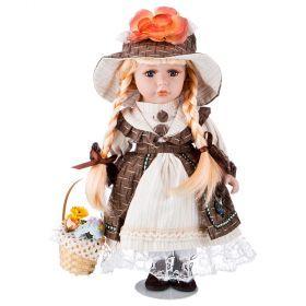 Кукла фарфоровая высота=30 см.-346-261