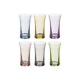 Набор стаканов из 6 шт. грейс микс 340 мл..высота=14 см.