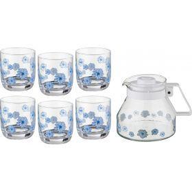 Набор 5 пр.: кувшин + 4 стакана 1300/200 мл.(кор=8наб.)-181-101